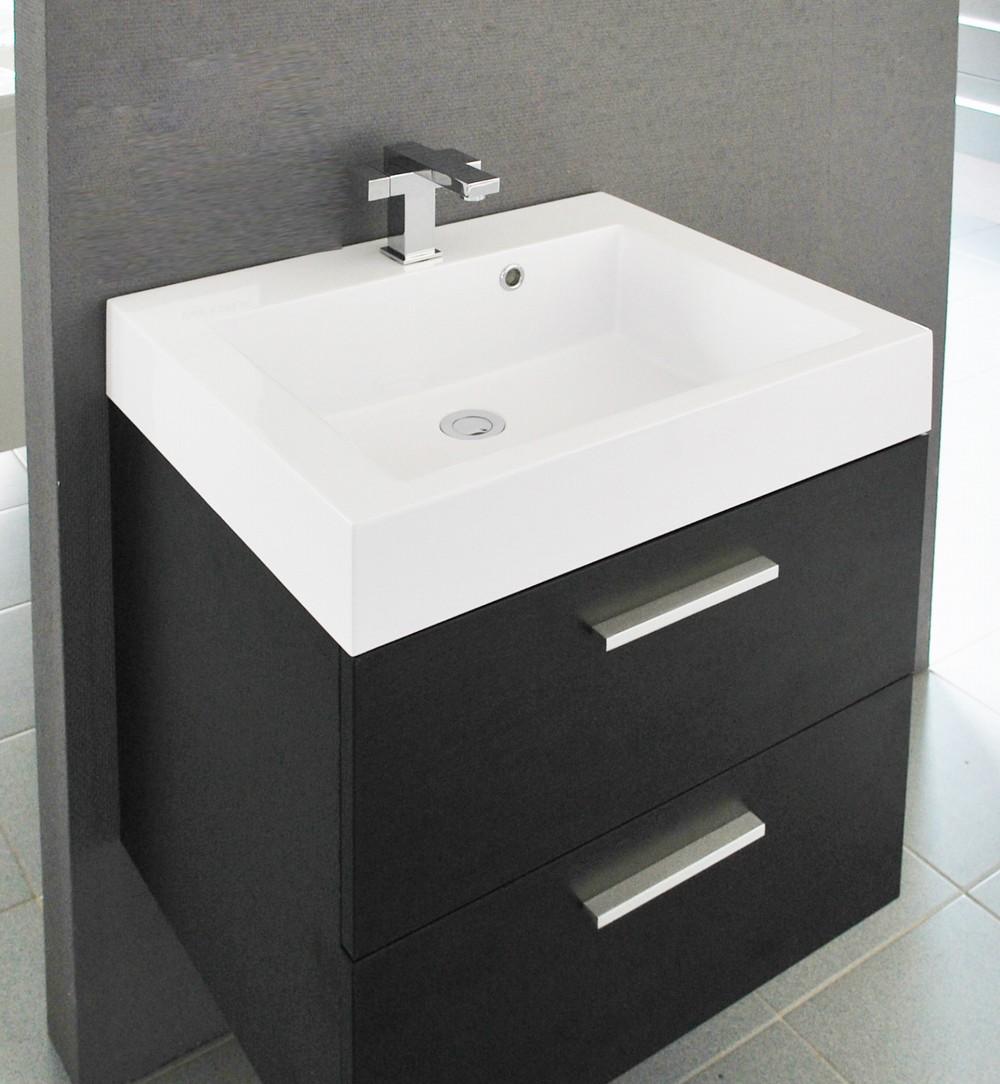 badkamermeubel new york zwart wenge 58cm met spiegel badkamerhuis. Black Bedroom Furniture Sets. Home Design Ideas