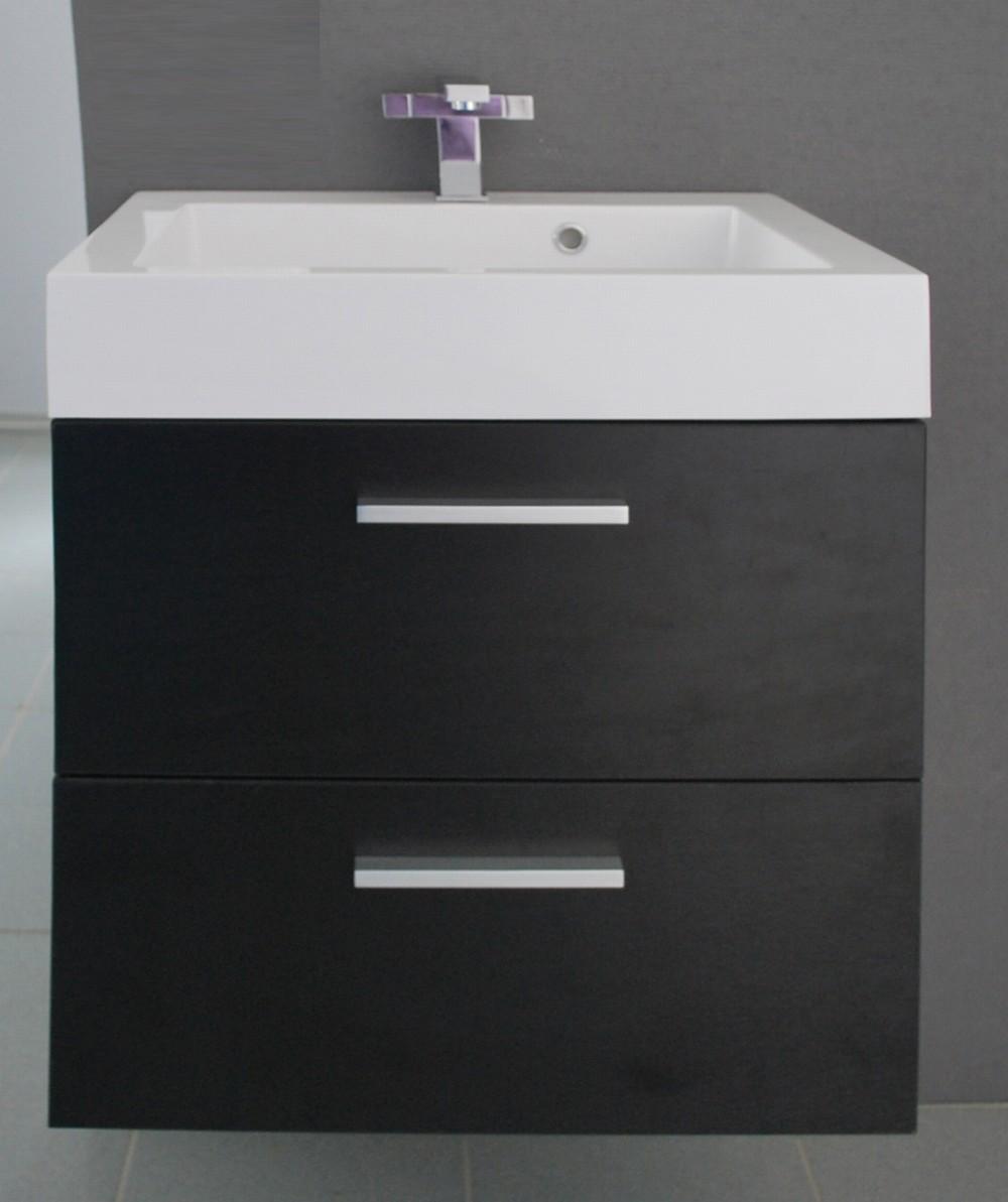 badkamermeubel new york zwart wenge 58cm met spiegel