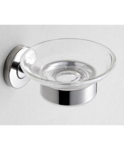 304-zeepschaalhouder met glas RVS