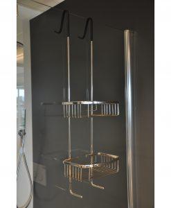 Domo chroom ophangrek tbv glazen wand 80cm
