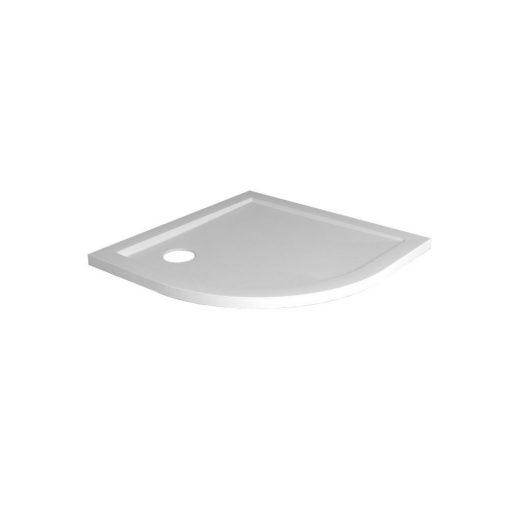 Luxe douchebak Kwart rond 90 x 90 x 4cm inbouw wit 1