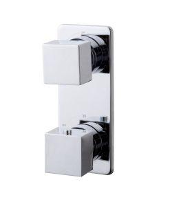 Rombo inbouw 2-wegs douchethermostaat vierkant chroom
