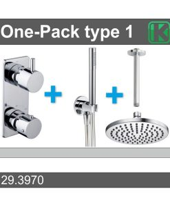 One-Pack inbouwthermostaatset rond type 1