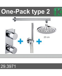 One-Pack inbouwthermostaatset rond type 2