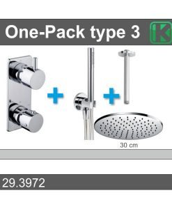 One-Pack inbouwthermostaatset rond type 3