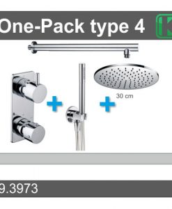 One-Pack inbouwthermostaatset rond type 4